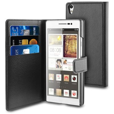 Muvit Folio Case Cardslots Huawei Ascend P7 Black