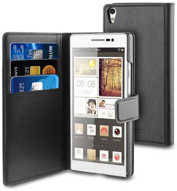 Muvit Folio Case Cardslots Huawei Ascend P7 Zwart