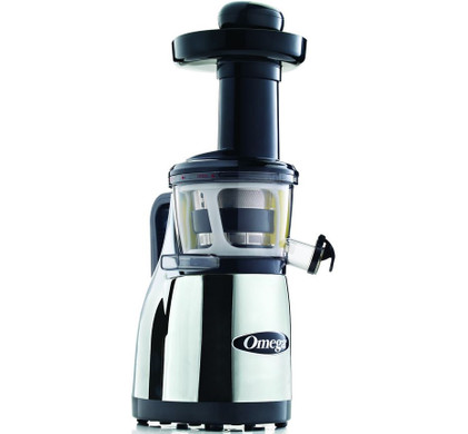 Omega vRT382HDC Slowjuicer Chroom + Receptenboek - Coolblue