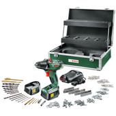 Bosch PSR 18 Li-2 + 241 delige Toolbox