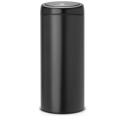 brabantia touch bin 30 liter mat zwart. Black Bedroom Furniture Sets. Home Design Ideas