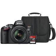 Nikon D5100 + geheugen + tas