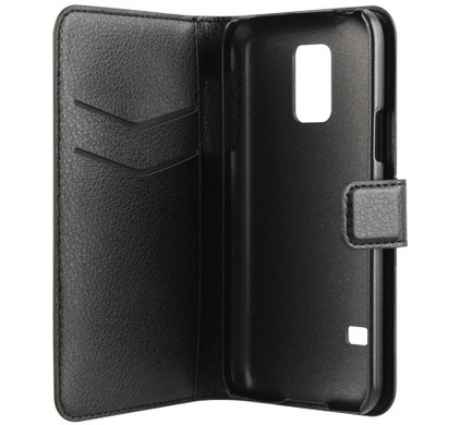 Xqisit Slim Wallet Case Samsung Galaxy S5 Mini Black