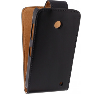 Xccess Leather Flip Case Nokia Lumia 630 / 635 Zwart