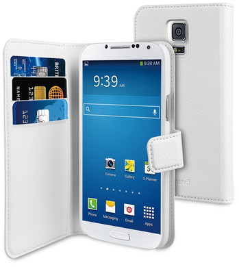Muvit Wallet Case Samsung Galaxy S5 Mini Wit
