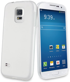 Muvit Minigel Case Samsung Galaxy S5 Mini Wit