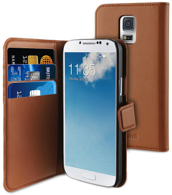Muvit Wallet Case Samsung Galaxy S5 Mini Bruin