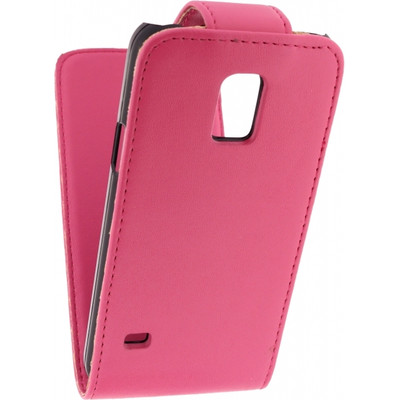 Xccess Leather Flip Case Samsung Galaxy S5 Mini Roze