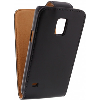 Xccess Leather Flip Case Samsung Galaxy S5 Mini Zwart