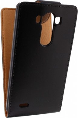 Xccess Leather Flip Case LG G3 Zwart