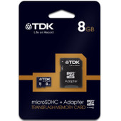 TDK microSDHC 8 GB + SD Adapter