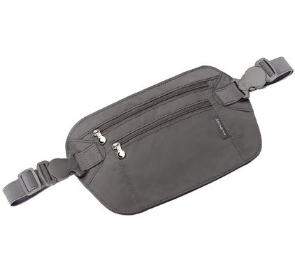 Samsonite Double Pocket Money Belt Graphite