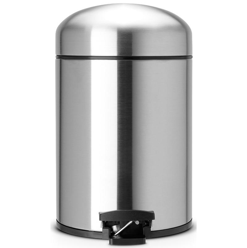 Brabantia Retro Bin 5 Liter Matt Steel