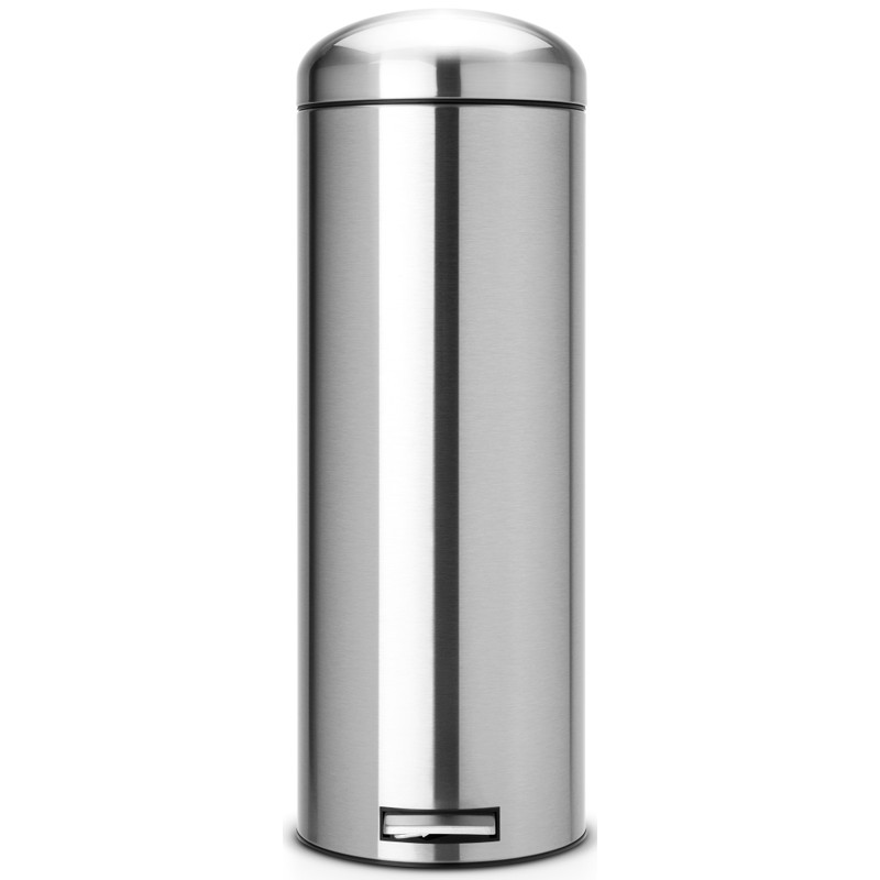 Brabantia Retro Bin 20 Liter Matt Steel Fingerprint Proof
