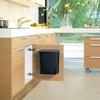 product in gebruik Built-in Bin 10 Liter Zwart