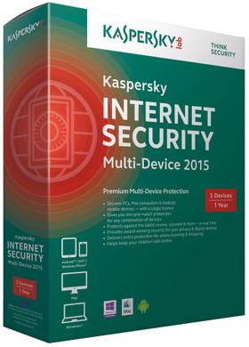 Kaspersky Internet Security 2015 1 Jaar 3 gebruikers