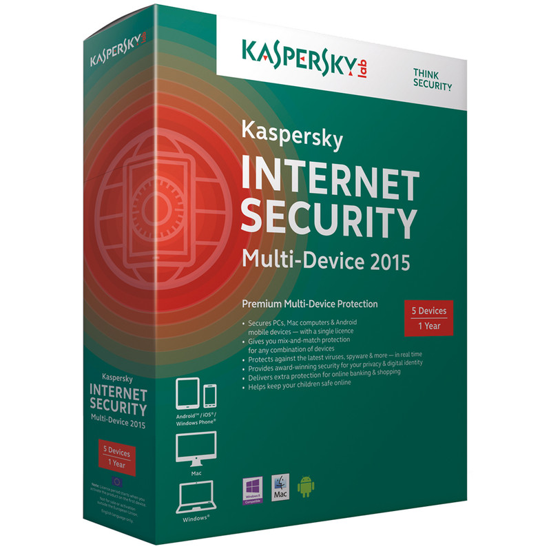 Kaspersky Internet Security 2015 1 Jaar 1 Gebruiker