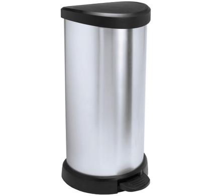 Curver Decobin Pedaalemmer 40 Liter Zilver