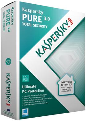 Kaspersky PURE 3.0 Total Security 2015 1 Jaar 3 gebruikers