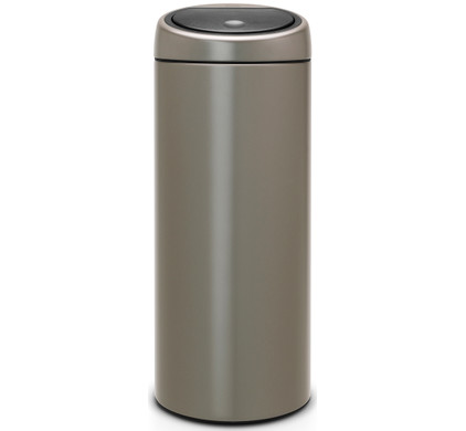 brabantia touch bin 30 liter platinum met platinum deksel. Black Bedroom Furniture Sets. Home Design Ideas