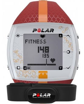 Polar FT7 Dames - Rood/Oranje