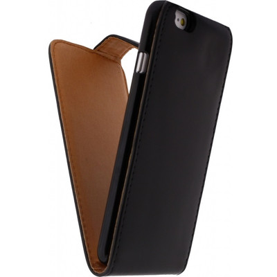 Xccess Leather Flip Case Apple iPhone 6 Zwart