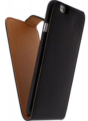 Xccess Leather Flip Case Apple iPhone 6/6s Zwart