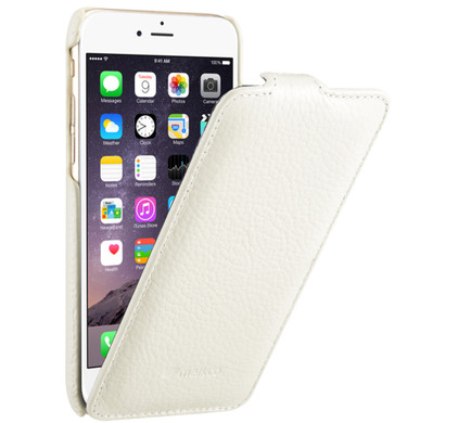 Melkco Leather Case Apple iPhone 6/6s Wit
