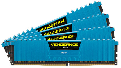 Corsair Vengeance LPX 16 GB DIMM DDR4-2800 Blauw 4 x 4 GB