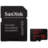 SanDisk microSDXC Ultra 128 GB Class 10 + SD Adapter