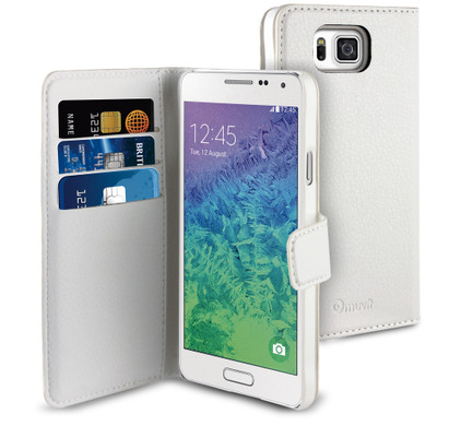 Muvit Wallet Case Samsung Galaxy Alpha Wit