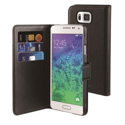 Muvit Wallet Case Samsung Galaxy Alpha Zwart