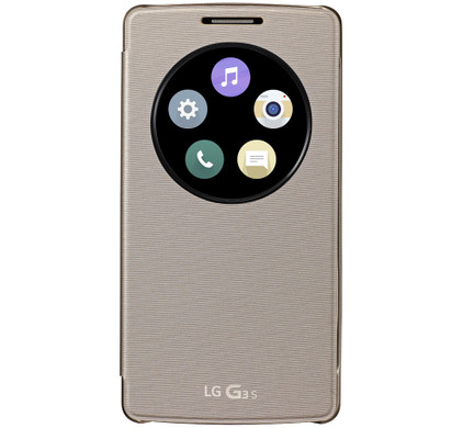 LG QuickCircle Cover LG G3 S Goud