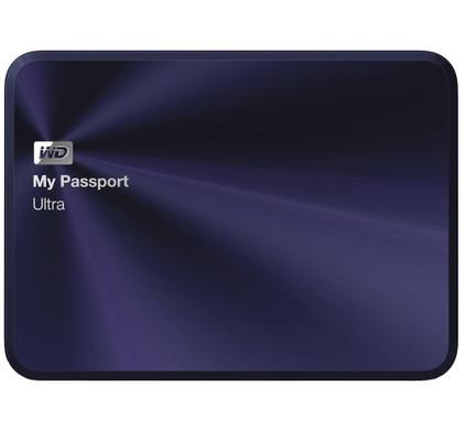 WD My Passport Ultra Metal Edition 2 TB Blauw-Zwart