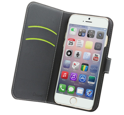 Muvit Wallet Apple iPhone 6/6s Book Case Zwart