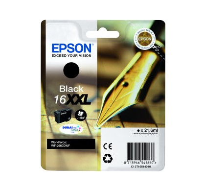 Epson 16XXL Cartridge Zwart C13T16814010