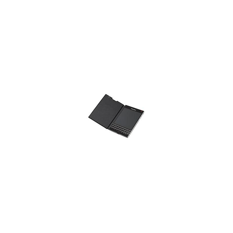 BlackBerry Passport Leather Flip Case Black