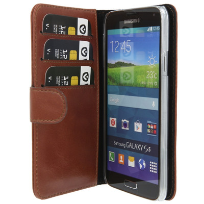 Valenta Booklet Classic Luxe Samsung Galaxy S5 Bruin