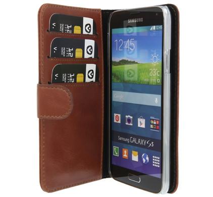 Valenta Booklet Classic Luxe Samsung Galaxy S5 Bruin