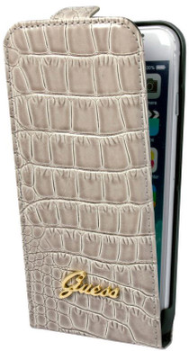 Guess Flip Case Crocodile Apple iPhone 6/6s Beige