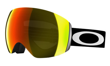 Oakley Flight Deck Matte Black + Fire Iridium Lens