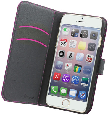 Muvit Wallet Apple iPhone 6 Plus/6s Plus Book Case Roze