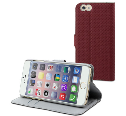 Muvit Wallet Case Apple iPhone 6 Rood