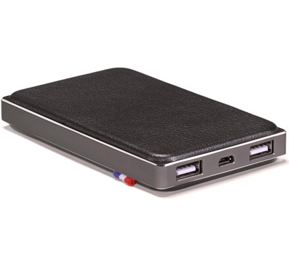 Decoded Leather Powerbank 6000 mAh Zwart