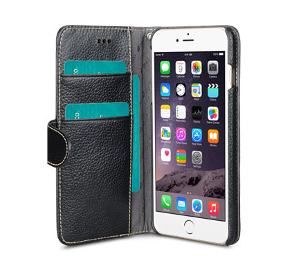 Melkco Leather Wallet Apple iPhone 6 Plus/6s Plus Zwart