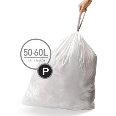 Image of Simplehuman Afvalzak Code P Pocket Liners 50-60 Liter (60 stuks)