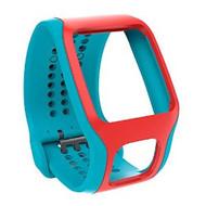 TomTom Cardio Comfort Strap Turquoise/Rood