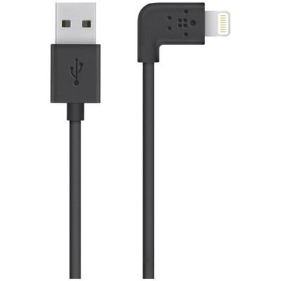 Image of Belkin 90 Graden Lightning USB Kabel Zwart