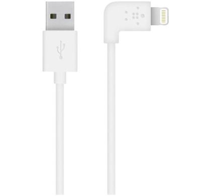 Belkin 90 Graden Lightning USB Kabel Wit