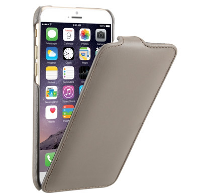Decoded Leather Flip Case Apple iPhone 6 Grijs